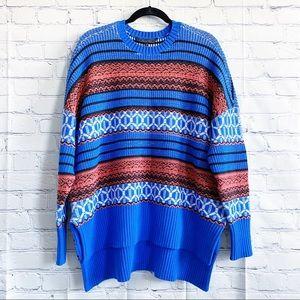 🆕 BCBGMaxAzria Oversized Jacquard Tunic Sweater